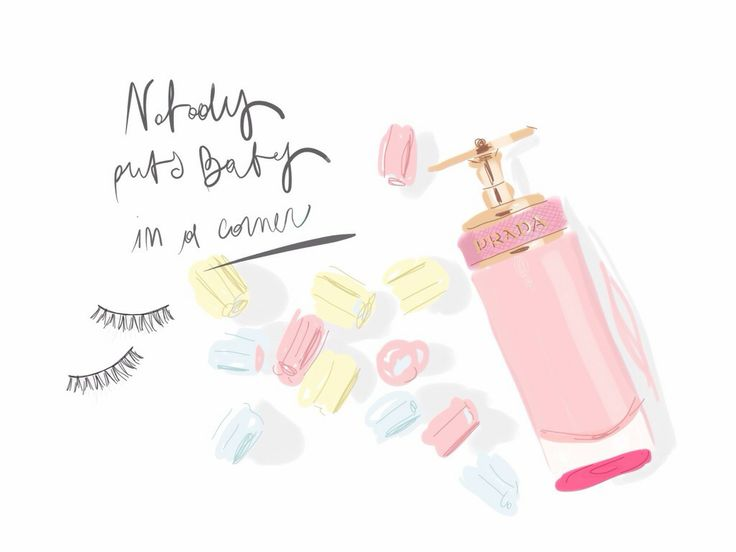 Nobody puts Baby in a corner. Prada Candy by Open Toe fashion illustrated / opentoeillustration.com