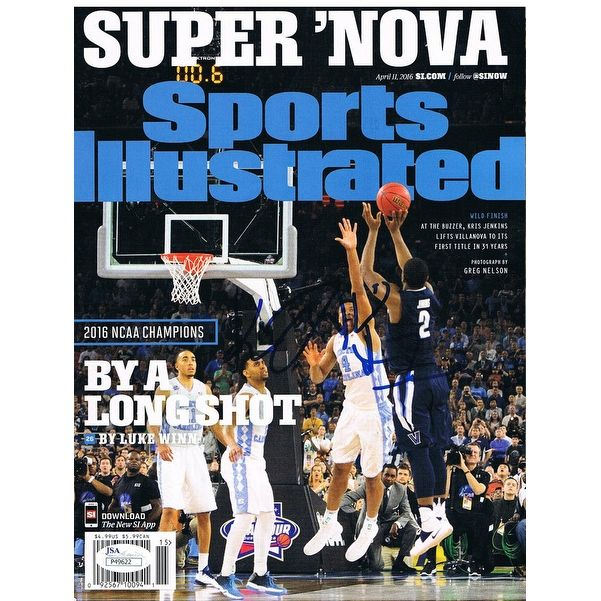 Kris Jenkins Autographed Villanova Basketball Signed Sports Illustrated SI Magazine Shot JSA COA 3