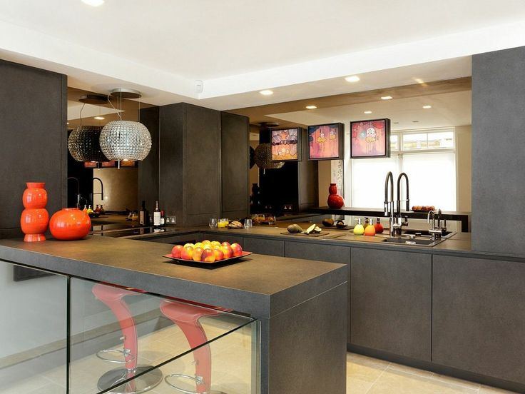 Inspirational Alno Star Dur Lava Grey kitchen with Miele appliances