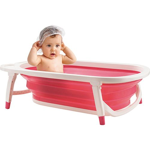 Banheira para Bebê Dobrável Flexi Bath  Menina - Multilkids Baby