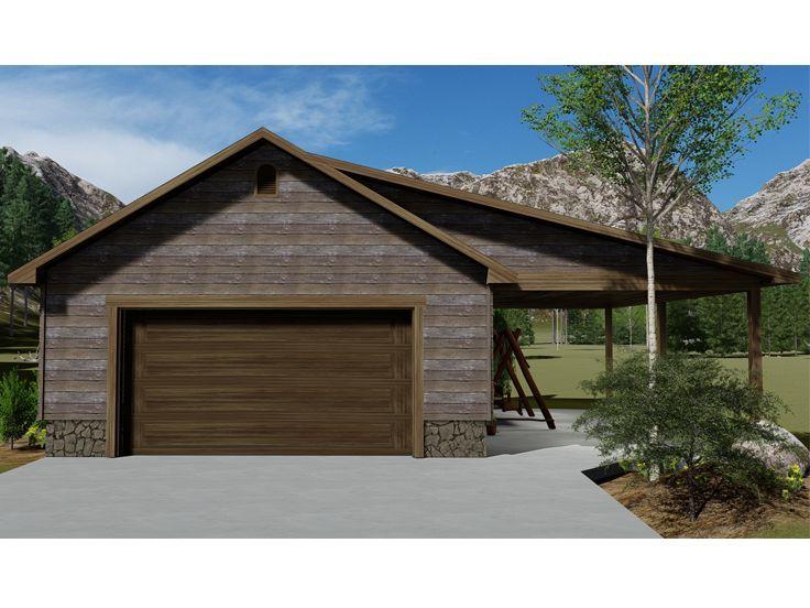 065g 0016 Drive Thru Garage Plan With Covered Porch Garage Plans Garage Workshop Plans Garage Plans Detached