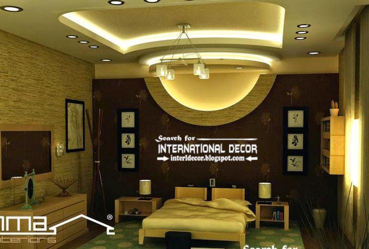 modern suspended ceiling lights for bedroom false ceiling lighting ideas