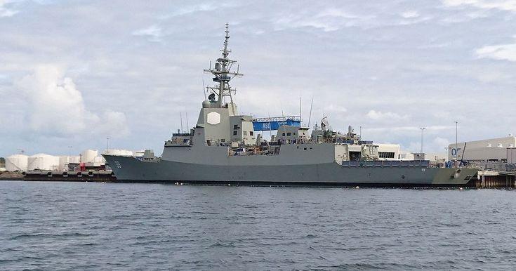 El HMAS Hobart, el nuevo destructor de guerra de la Royal Australian Navy (RAN),