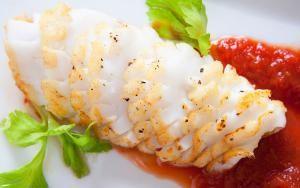 Nugget Markets Seared Calamari Steak with Bloody Mary Sauce Recipe