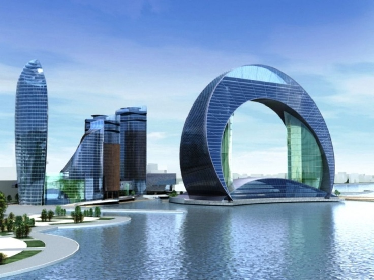 Futuristic design baku azerbaijan and crescents on pinterest for Design hotel 6f