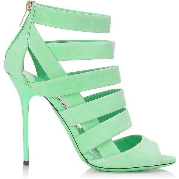 Neon Flame Nappa Leather Sandals | Damsen | Spring Summer 2014 | JIMMY... (1,022,145 KRW) ❤ liked on Polyvore featuring shoes, sandals, heels, high heels, jimmy choo, summer shoes, neon sandals, neon high heel sandals and fluorescent shoes