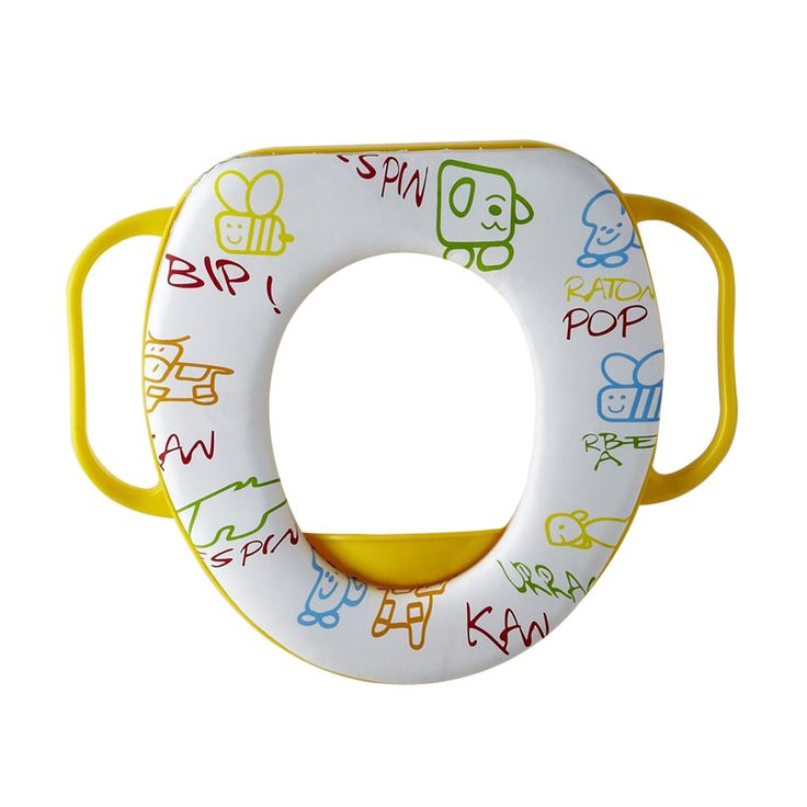 Cartoon Colorful toilet seat kids soft  toilet seat cover  Cushion Child Seat Baby Potty Seat  Safety  with Handrail yellow