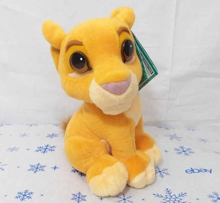 "Disney THE LION KING SIMBA'S PRIDE Plush KIARA Lion Cub 8"" Mattel 1998 Kiss  #Mattel"
