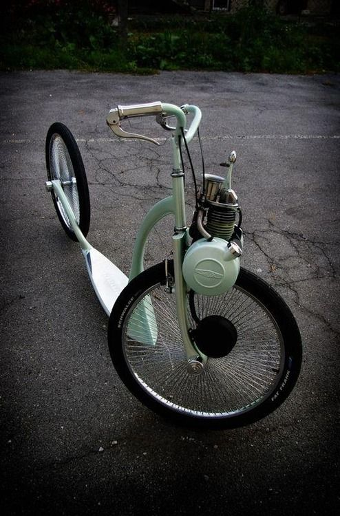 I couldn't find info on this...would love to know what it is...bicycle or motorbike?