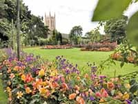 In 1214 the Barons took an oath at the altar of Bury St Edmunds Abbey (the ruins are in the Abbey Gardens) to force King John to sign the first human rights charter - the Magna Carta.