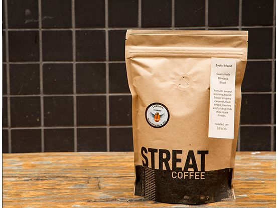 Streat Coffee  But, cup by cup, kilo by kilo,  – because every five cups of coffee equals 10 minutes of training for a young disadvantaged person.