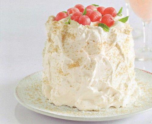 Нежный арбузный торт