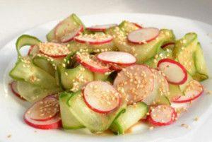 Японский салат из редиса