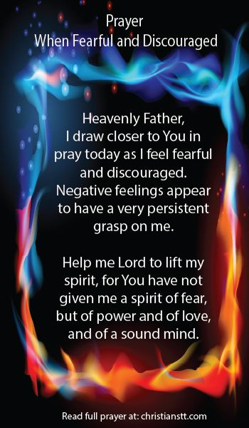 Prayer: When Fearful and Discouraged