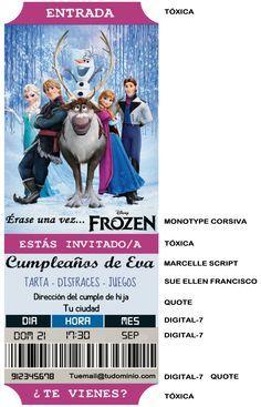 Invitaciones de cumpleaños Frozen - Base Echo