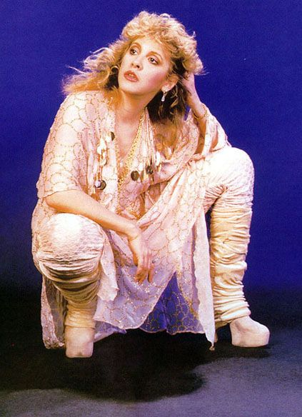 Leg warmers and 6 inch boots, signature style of Stevie Nicks.