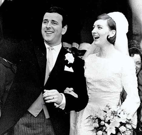 Terry Wogan at his April 1965 wedding to model, Helen Joyce.