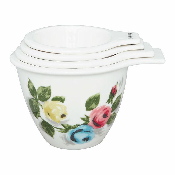 Baking   Painterly Rose Ceramic Measuring Cups   CathKidston