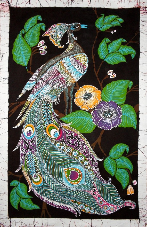 Eastern inspired batik bird