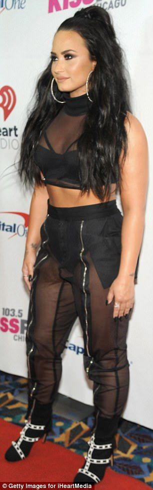 Demi Lovato attends 103.5 KISS FM's Jingle Ball 2017 | Daily Mail Online
