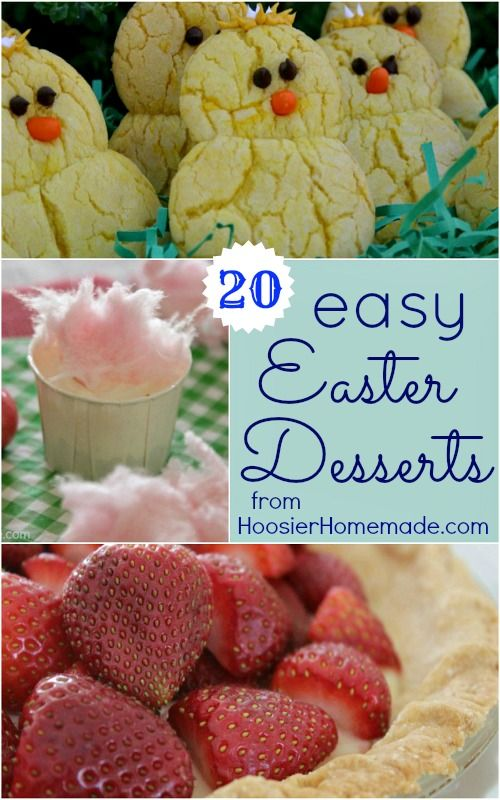 20 Easy Easter Desserts :: from HoosierHomemade.com