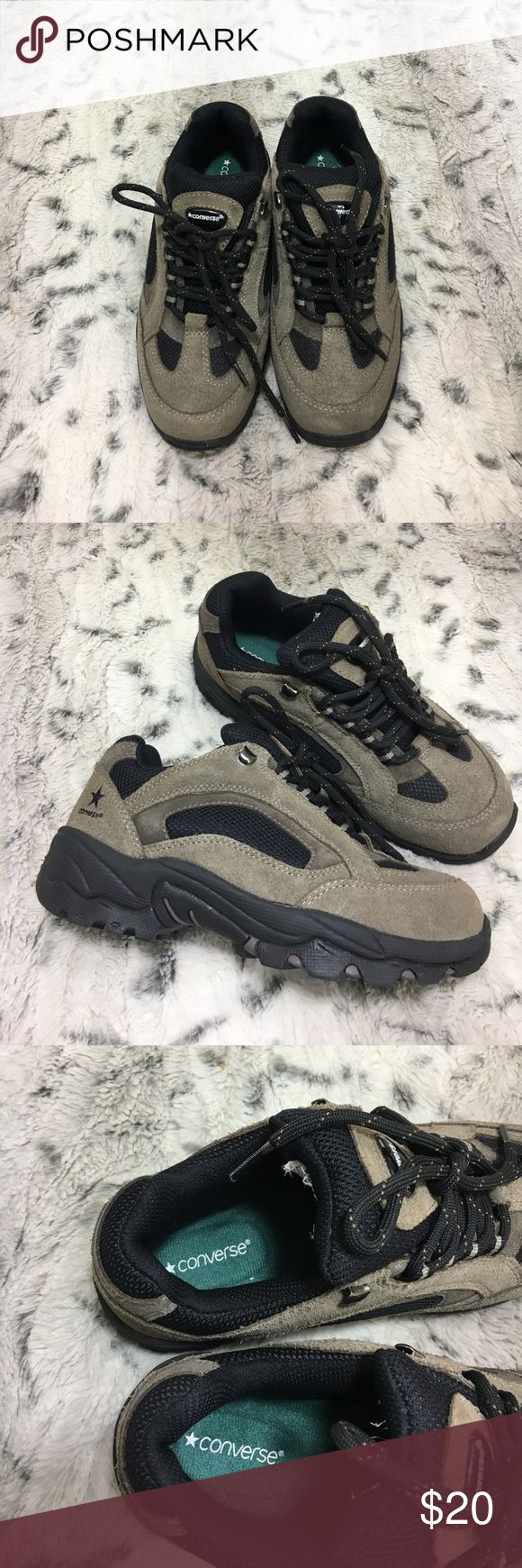 Hiking converse shoes men's 5 women's 7 Brown black suede hiking shoes Converse Shoes Sneakers