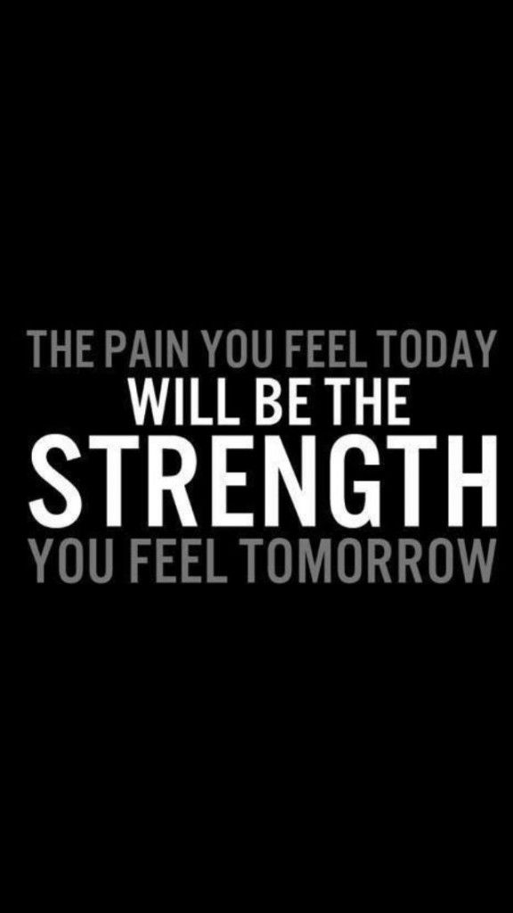 U0027The Pain You Feel Today Will Be The Strength You Feel Tomorrowu0027 Inspiration  Quote To Motivate Exercise And A Healthy Lifestyle