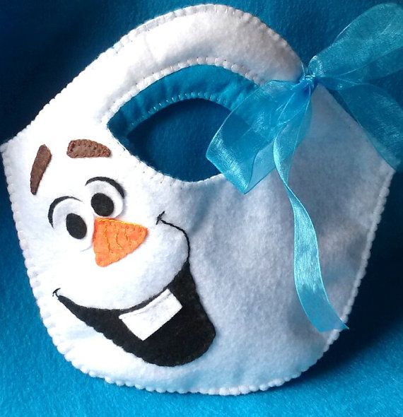 Olaf inspired Child's Purse Felt Snowman Kid's by CurlyTailCrafts More
