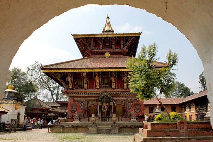 Ancient Changu Narayan Temple in the eastern Kathmandu Valley, Nepal