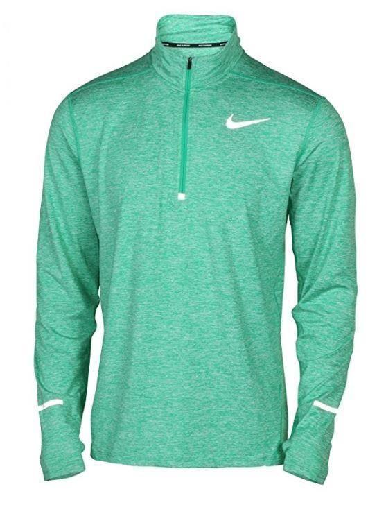 51cf25898b Nike Mens Element Half Zip LS Running Shirt M or XL Spectrum Green ...