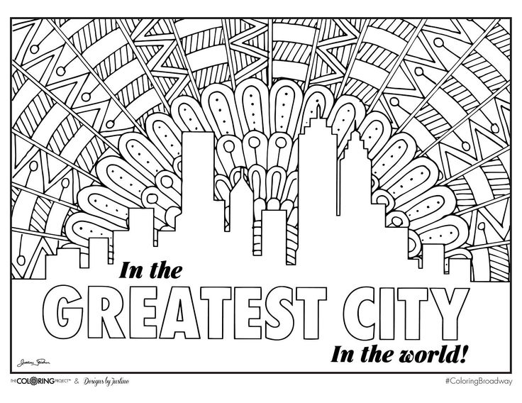 Coloring Broadway Hamilton Musical Edition Greatest City