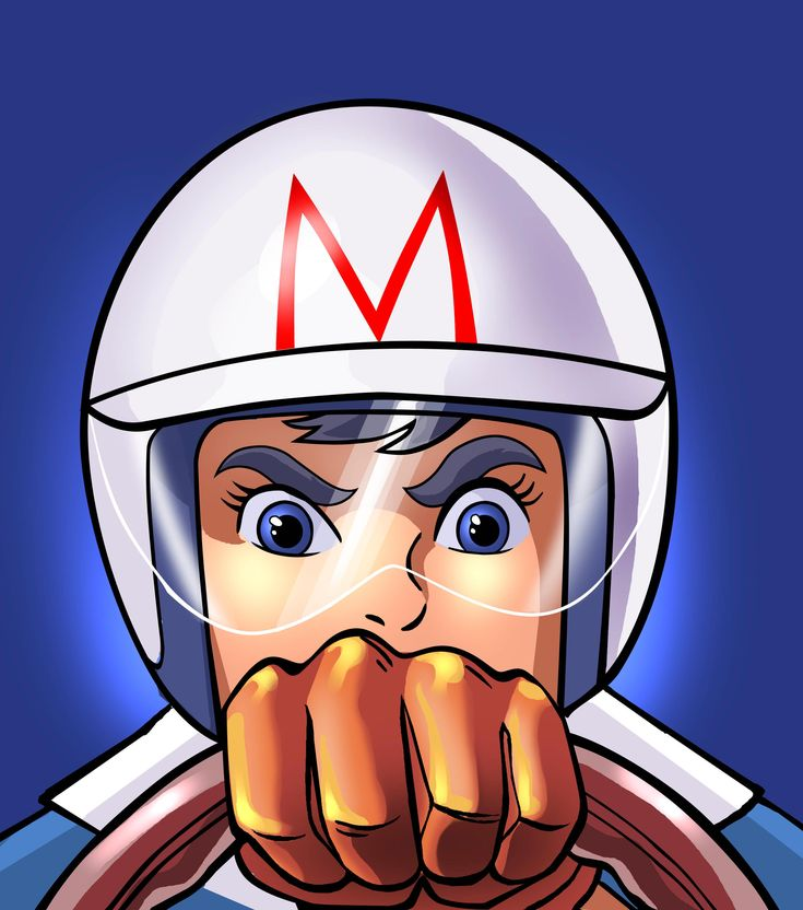I was in love with Speed Racer when I was a child. I think I loved his big blue eyes. Hubba hubba!