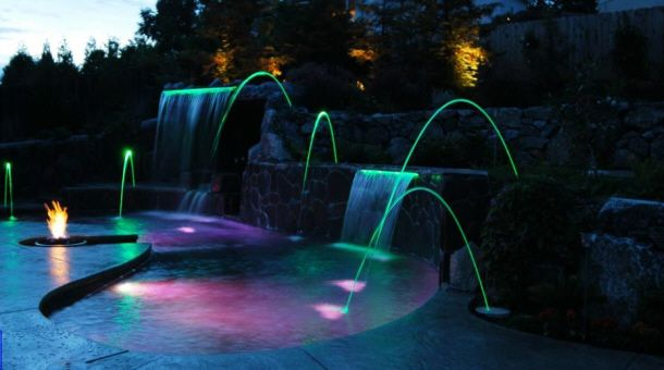47 best images about laminars on pinterest decks water - Swimming pool fountains and lights ...