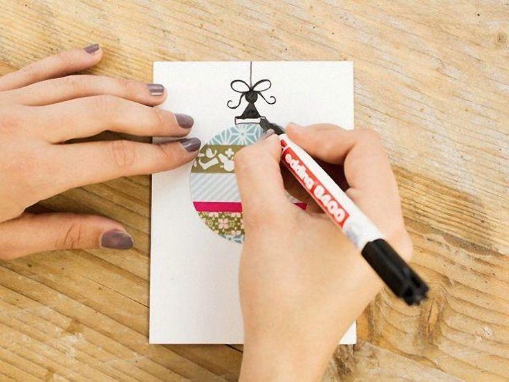 DIY-Anleitung: Weihnachtskugel-Karte basteln via DaWanda.com