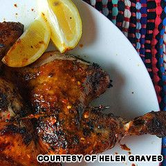 This is Piri piri chicken. It is mainly eaten in Mozambique. Piri piri chicken is chicken cooked with lime, pepper, garlic, coconut milk, and piri piri sauce. Most tourists of Mozambique usually just call it Grilled Chicken Piri Piri.