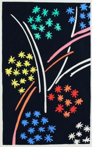 Fabric pattern by Sonia Delaunay, c 1930, Composition 35. (Orphism)