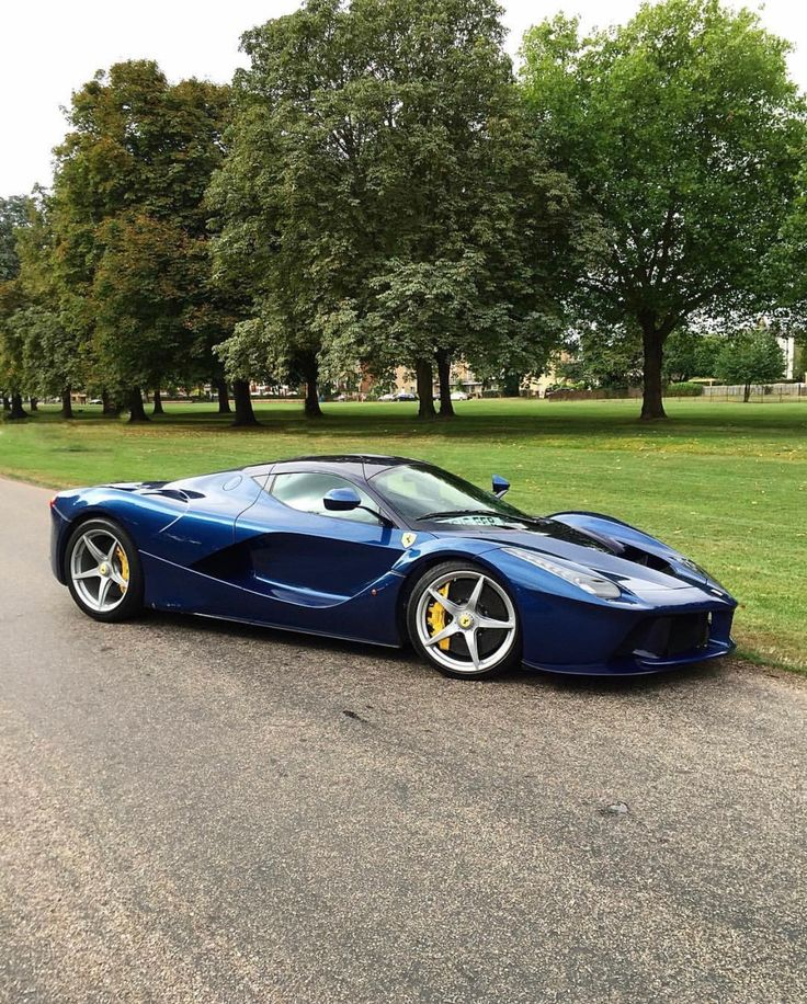 Ferrari LaFerrari painted in Tour De France Blue w/ a Black roof  Photo taken by: @alex__automotive on Instagram