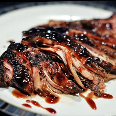 """Brown Sugar and Balsamic Glazed Pork Loin: Erin says """"One of my favorite recipes!  It's very easy and the flavoring is delicious. Everyone in the family likes this one.  I usually make some wild rice to go along with it. """""""