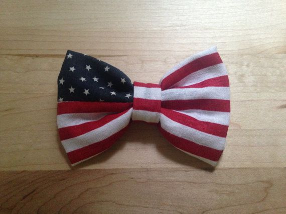 American Flaf Hair Bow by TheMilsoShop on Etsy