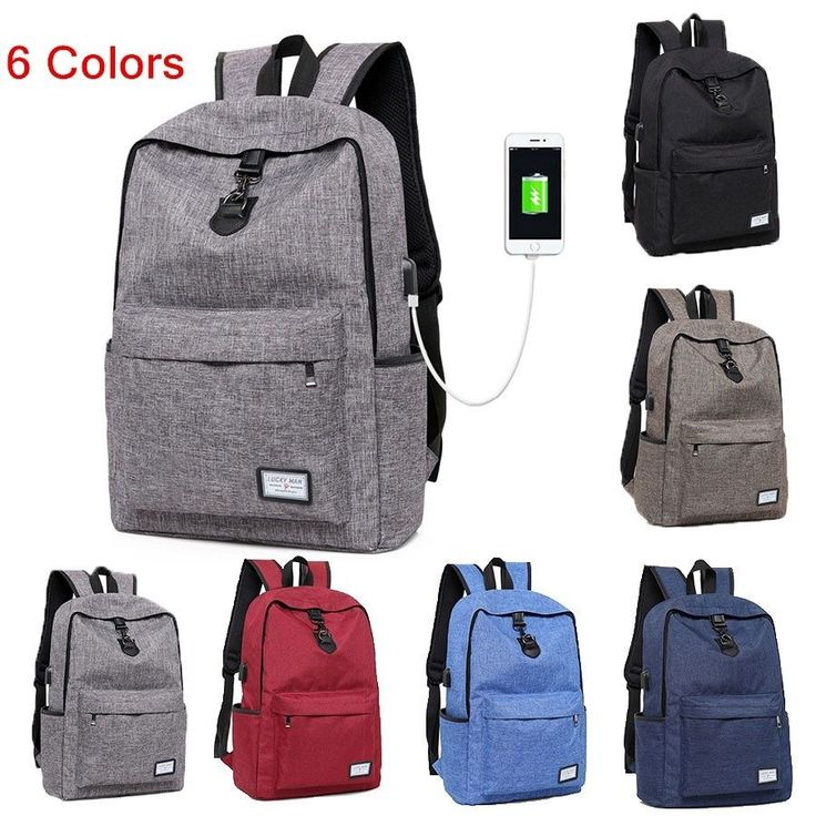 External Usb Charge Notebook Bag Anti-Theft Travel Backpack School Backpack