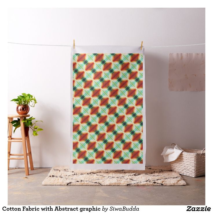 Cotton Fabric with Abstract graphic