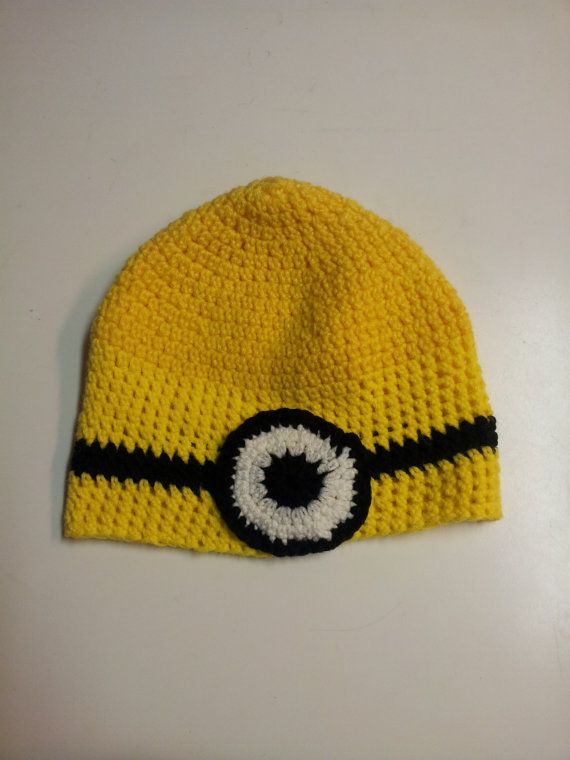 ADULT Despicable Me, Minion beanie hat on Etsy, $7.00