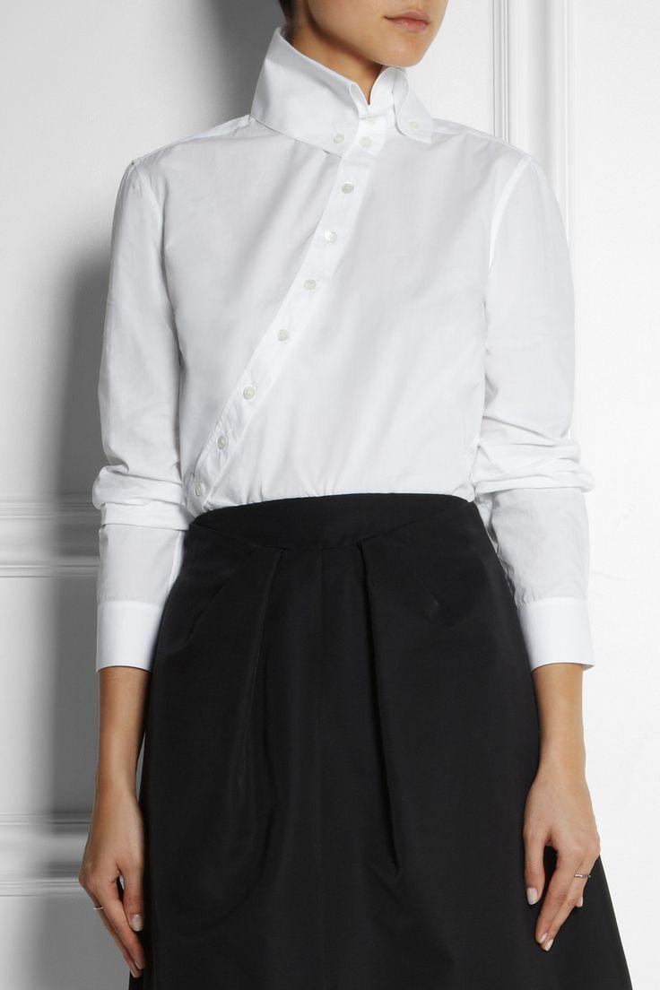 McQ Alexander McQueen|Asymmetric cotton shirt|NET-A-PORTER.COM