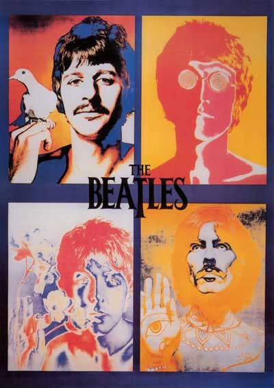The Beatles Psychedelic Avedon Portraits XL 38x53 Giant Poster – BananaRoad