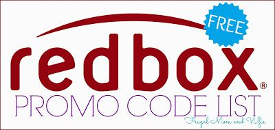 Frugal Mom and Wife: Free Redbox Rental Codes List! New Video Game Code! (Text)