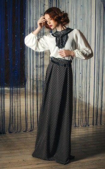 Вечернее платье в горошек в ретро стиле Black&White