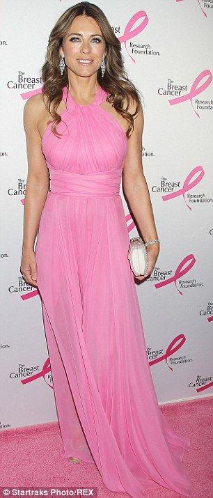 Elizabeth Hurly looking amazing in pink