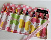 Crayon roll!: Butterflies Crayons, Crayola Crayons, Cases, Minis Butterflies, Crayons Rolls I, Crayons Rolls Up, Crafts Sewing Quilts, Minis Me, Christmas Stockings Stuffers