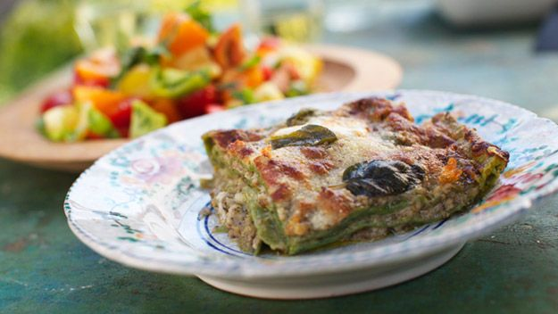 Lasagne verdi with Sage and Walnut Pesto - Simply Italian, Channel 4
