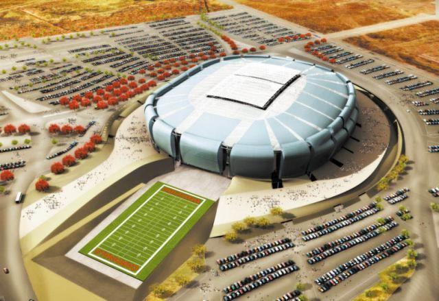 University of Phoenix Stadium in Glendale, Arizona  http://architecture.about.com/od/greatbuildings/ig/Stadium-and-Arena-Pictures/University-of-Phoenix-Stadium.htm